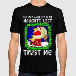 Naughty List  |  Santa Claus  |  Christmas T-shirt
