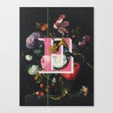 Letter E Canvas Print