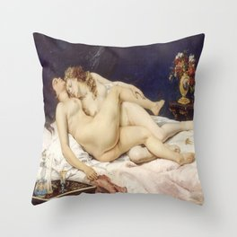 Gustave Courbet's The Sleepers Throw Pillow