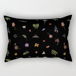 Nocturnal Floral Rectangular Pillow