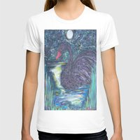 black swan T-shirts featuring Black Swan by Amber Rose Stahl