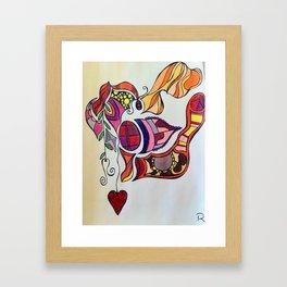 The Spirit of the Color Red Framed Art Print