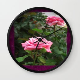 Pink Roses in Anzures 5  Blank P8F0 Wall Clock