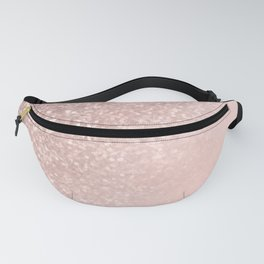 Rose Gold Sparkles on Pretty Blush Pink II Fanny Pack