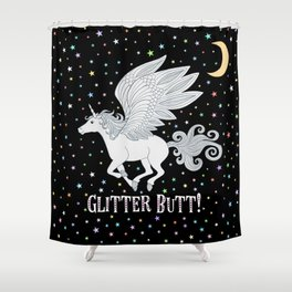Glitter Butt! Shower Curtain