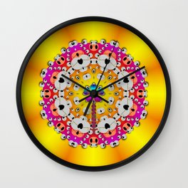 Fantasy flower in tones Wall Clock