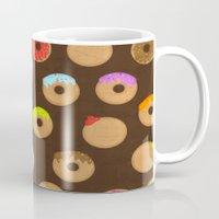 donuts Mugs featuring Donuts by Reg Silva / Wedgienet.net