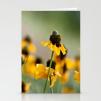 hats Stationery Cards featuring Yellow hats by Julia Goss Photography
