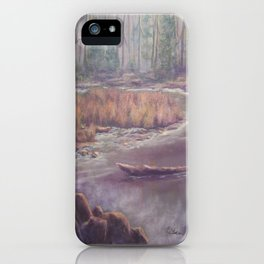 Mist on the Manistee AC151003b-12 iPhone Case