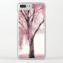 Pink Willow Clear iPhone Case