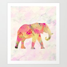 Abstract Elephant II Art Print