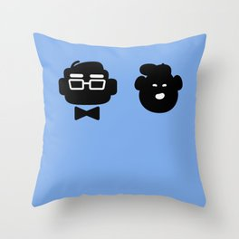 mr. fredricksen & russell Throw Pillow