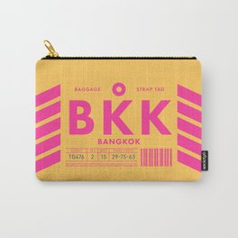 Luggage Tag D - BKK Bangkok Thailand Carry-All Pouch