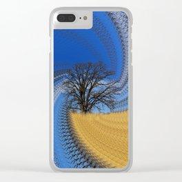 Prairie oak swirl Clear iPhone Case