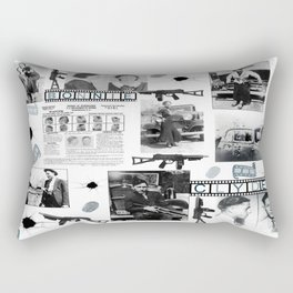 Bonnie And Clyde Rectangular Pillow