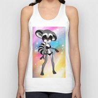 anime Tank Tops featuring Anime Raccoon by Simone Gatterwe