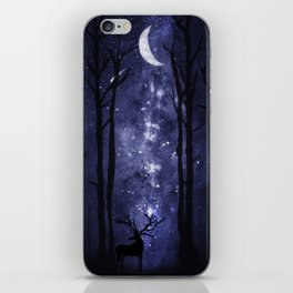 Starry Night and Moon #1 iPhone Skin