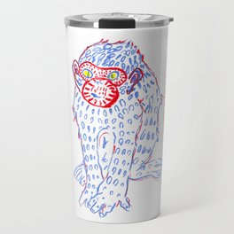 Blue monkey Travel Mug