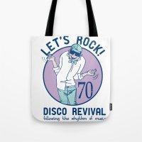 disco Tote Bags featuring Disco by Danilo De Donno