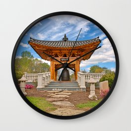 Korean Bell Garden Wall Clock