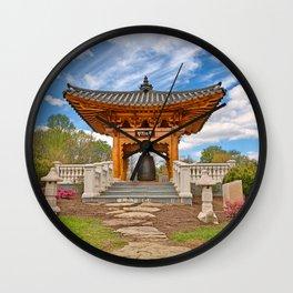 Korean Bell Garden Wall Clock