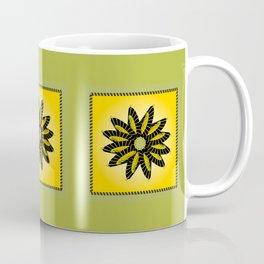 Yellow Stitched Flower Coffee Mug