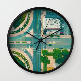 The City From Above (Color) Wall Clock