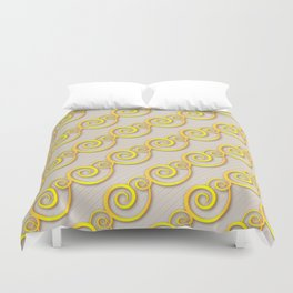 Golden swirls Duvet Cover