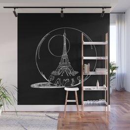 Paris city in a glass ball . Home decor, art prints Wall Mural