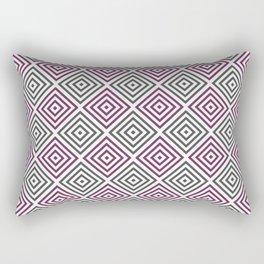 Burgundy, gray and white diamond rhombus pattern Rectangular Pillow