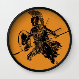 Spartan Warrior Wall Clock