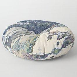 Mountain Lake Trail Floor Pillow