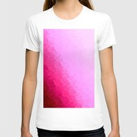 hot pink T-shirts featuring Pink Ombre by SimplyChic