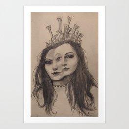 The Bone Queen Art Print