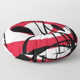 Black red white lines pattern design #geomegtry Floor Pillow