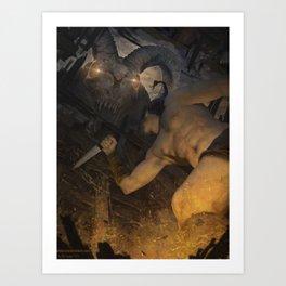 Night visitor Art Print