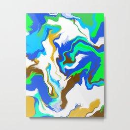 Planet earth colours Metal Print