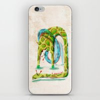 giraffes iPhone & iPod Skins featuring Giraffes by Orenso