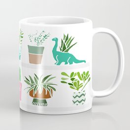 Plants on shelves. Coffee Mug