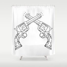 Botanical Revolvers Shower Curtain