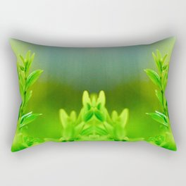 Green Harmony Rectangular Pillow