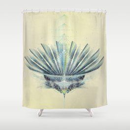 The Feathered Tribe Abstract / II Shower Curtain