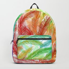 Rainbow Feathers Backpack