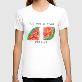 Team Forever Love Quote Couple Watermelon Fruits T-shirt