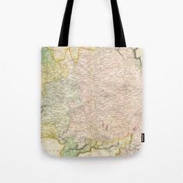 Vintage Map of Bavaria Germany (1814) Tote Bag