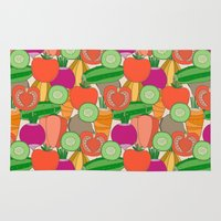 vegetables Area & Throw Rugs featuring Vegetables by Valendji