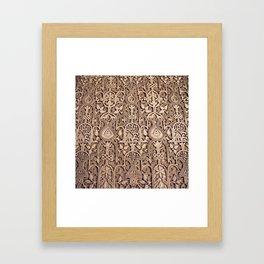 Arabic Patterns Framed Art Print