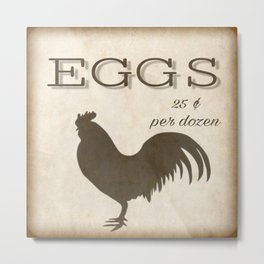 Eggs for Sale Metal Print