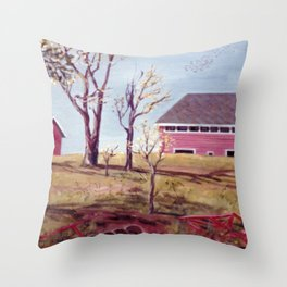 Evangeline  Trail, Nova Scotia             By Kay Lipton Throw Pillow