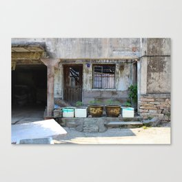 Abandonned Chinese House Canvas Print